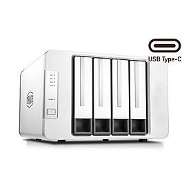 Bộ lưu trữ dữ liệu DAS TerraMaster D4-300 Single Disk (NO RAID), USB-C 3.1 5Gbps, 4 khay ổ cứng Single - Hàng chính hãng