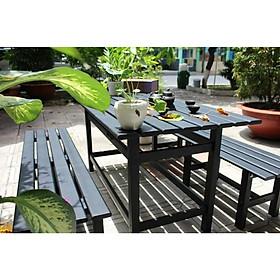 Bộ bàn ghế nhôm sân vườn