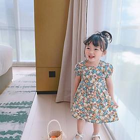 Váy thô hoa nhí vừa mát vừa xinh cho bé gái, đầm hè cho bé, dáng xòe dễ thương | MV27