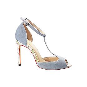 Giày Cao Gót Vải Jean T-Strap Sulily G01-II17XANHNHAT
