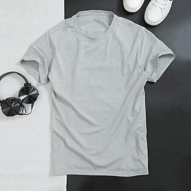 Áo thun nam tay lỡ cổ tròn dáng slimfit, chuẩn thiết kế hàn quốc, cực tôn dáng, lịch sự, trẻ trung(ACT)