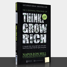 Sách -  Think & Grow Rich - 5 Nguyên Tắc Vàng Nghĩ Giàu Làm Giàu - Đánh Thức Khao Khát Làm Giàu Trong Bạn