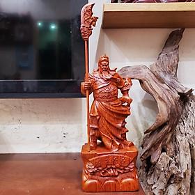 Tượng quan công quan vân trường quan vũ gỗ hương cao 30 cm