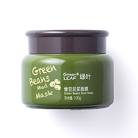 Green Leaf Green Mushroom Mud Mask 100g Clean Pore Clean Oil Replenishment