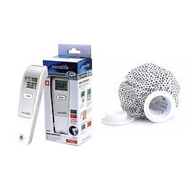 Combo Nhiệt kế điện tử đo trán đa chức năng MICROLIFE FR1MF1 + Tặng kèm túi chườm lạnh nhựa TPU