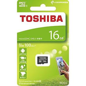 Thẻ nhớ MicroSDHC Toshiba M203 UHS-I U1 16GB 100MB/s (Đen) - Hàng chính hãng