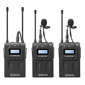 Micro Thu Âm Wireliess UHF Boya BY-WM8 PRO-K2 (Bộ Thu 2 Micro) - Hàng Nhập Khẩu
