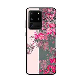 Ốp Lưng Dành Cho Samsung Galaxy S20 Ultra mẫu Hoa Đào Nở Rộ - Hàng Chính Hãng