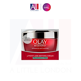 Kem dưỡng không hương liệu Olay Regenerist Advanced Anti Ageing 3 Point Age Defying Cream Fragrance Free Moisturiser - 50ml