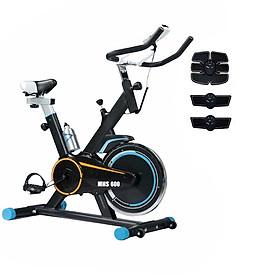 Combo xe đạp tập thể dục tại nhà Mofit MHS600 + Máy massage xung điện EMS