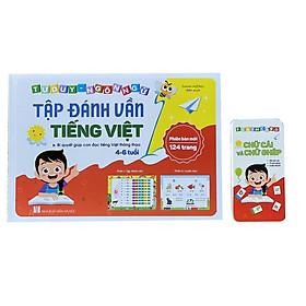 COMBO Vở Tập Đánh Vần Tiếng Việt + 40 Thẻ Học Flashcard Giúp Phát Triển Trí Não, Tăng Khả Năng Học Hỏi  Cho Bé - TẶNG 1C BÚT CHÌ HÌNH THÚ
