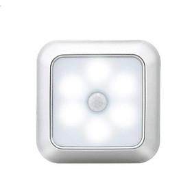 Đèn led cảm ứng dán tủ, tường, hành lang cầu thang tiện lợi V2 (hình vuông) - Cảm ứng hồng ngoại