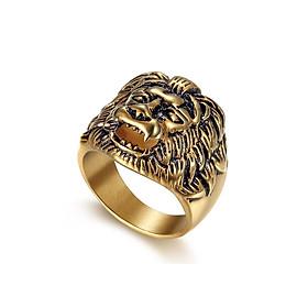Nhẫn Nam Đầu Sư Tử Mạ Vàng 18k N33