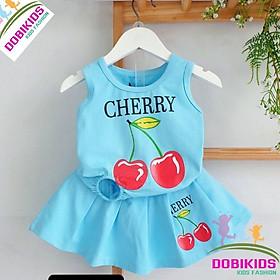 Dobikids - Set bộ bé gái quần váy cherry cotton SG chuẩn shop xịn 10-35kg