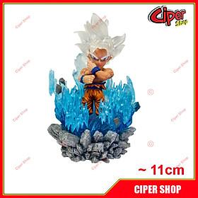 Mô hình Son Goku Vô Cực - Led 11cm - Figure Goku Ultra Instinct Dragon Ball