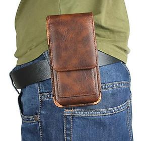 Bao da đựng điện thoại đeo hông từ 5inch - 5.5inch
