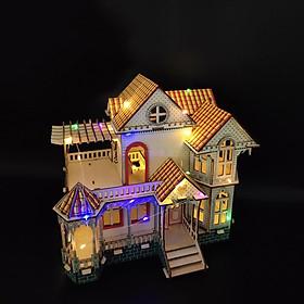 Đồ chơi lắp ráp gỗ 3D Mô hình Nhà gỗ Hawaii Villa BZQ-075