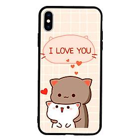 Ốp lưng viền TPU cho điện thoại Iphone Xs Max - I Love U
