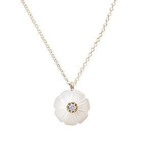 Dây Chuyền Galatea Jewelry Momento Talking Pearl MO-41YW - Trắng