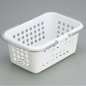 Hình đại diện sản phẩm Giỏ đựng đồ tiện dụng cỡ nhỡ (màu trắng) - Hàng Nội Địa Nhật