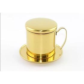 PHIN CAFE INOX 304 MẠ VÀNG