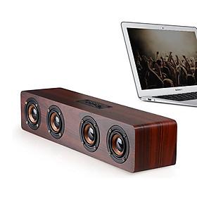 Loa Soundbar vỏ gỗ W8 - Loa bluetooth, loa tivi