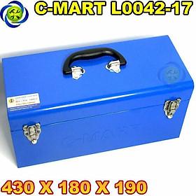 Thùng đồ nghề sắt C-Mart L0042-17 430 X 180 X 190