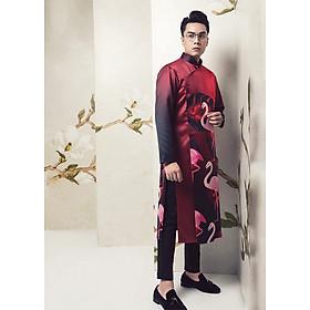 Áo Dài Nam Hồng Hạc Đỏ May's House Designer