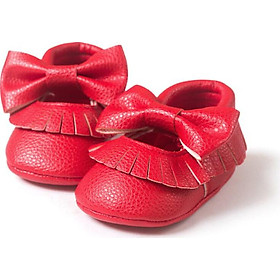 New Soft Sole Baby Girl Infant Toddler Tassel Baby Casual Bow-knot Crib Shoes
