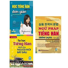 Combo 3 Cuốn Sách Tự Học Tiếng Hàn : Học Tiếng Hàn Thật Là Đơn Giản - Trình Độ Trung Cấp + Tự Học Tiếng Hàn Dành Cho Người Mới Bắt Đầu (Kèm CD Hoặc Tải App) - Tái Bản + Ngữ Pháp Tiếng Hàn Thông Dụng - Sơ Cấp (Dùng APP MCBooks) (Tặng kèm Bookmark thiết kế AHA)