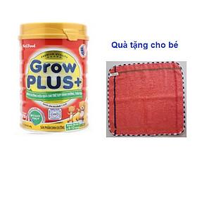 Sữa Nutifood Grow Plus+ 780g cho trẻ dưới 1 tuổi tặng kèm khăn mặt bông mềm mịn cho bé