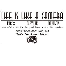 Miếng Dán Tường Hình Chữ Life Is Like A Camera