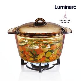 Nồi thuỷ tinh 5L Luminarc Vitro Blooming Amberline -LUBLJ0886