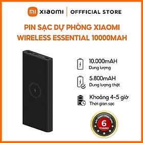 Pin Sạc Dự Phòng Polymer Xiaomi Mi Essential 10.000 mAh Tích Hợp Sạc Không Dây 10W Hỗ Trợ Sạc Nhanh USB Type-C Input 18W + USB-A Output 18W - Hàng Chính Hãng