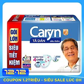 Tã Dán Siêu Thấm Caryn Gói Siêu Tiết Kiệm M-L40 (40 Miếng)