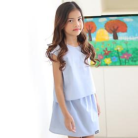 Set Đầm Bé Gái Kika Áo Liền Tay Chân Váy Rời K088