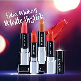 Son lì mềm môi Extra Makeup Matte Lipstick Hàn Quốc 3.5g (B03 - Bikini Rose) + Móc khóa-4