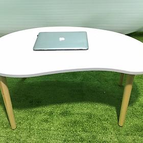 Bàn sofa hạt đậu trắng 100x50x45, bàn trà, bàn gỗ phòng khách, bàn cafe, coffee, cà phê, salon