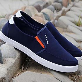 Giày Lười - Giày Vải Cho Nam - Kiểu Dáng Đơn Giản - Màu Sắc Trung Tính Dễ Phối Đồ - Chất Liệu Vải Thoáng Khí Không Ra Mồ Hôi Chân - Tặng Kèm 1 Đôi Đệm Gót Chân Siêu Tốt