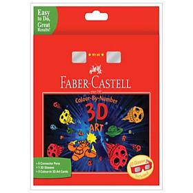 Bộ Tranh 3D Tô Màu Bằng Số + Kiếng 3D Faber Castell