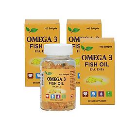 Bộ 4 hộp dầu cá Omega 3 Natural Gift Fish Oil (100 viên/hộp) | TẶNG: 2 Hộp đông trùng hạ thảo Wellness Nutrition 30 viên & 1 Hộp dầu cá OMEGA 3 Natural Gift 30 viên (HÀNG NHẬP KHẨU)