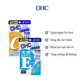 Combo Viên Uống DHC Trắng Hồng Và Mịn Màng (VitaminE & VitaminC)