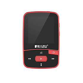 Ruizu X50 8GB 1.5in MP3 MP4 Player HiFi Lossless Sound Quality Bluetooth Pedometer TF Card FM Radio Recording E-book - Red