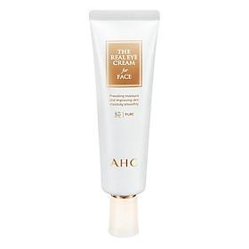 Kem Dưỡng Da Vùng Mắt Và Mặt AHC The Pure Real Với Thành Phần Axit Hyaluronic (60ml)