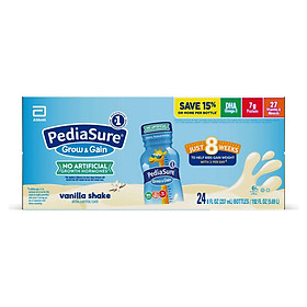 Thùng Sữa nước Pediasure Grow & Gain hương Valina 237ml x 24 chai mẫu mới 2020