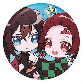 Huy hiệu Anime Kimetsu No Yaiba cài cặp sách balo trang trí