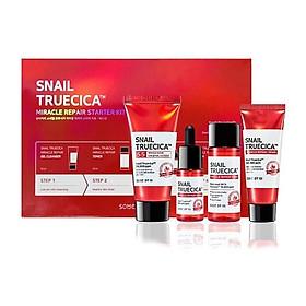 Bộ Kit Chăm Sóc Da Chiết Xuất Từ Ốc Sên Some By Mi Snail Truecica Miracle Repair Starter [4 Món]