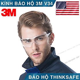 Kính bảo hộ 3M V34 Mắt kính chống tia UV, chống bụi, chắn gió, chống đọng sương, mắt kính trong suốt, bảo vệ mắt trong y tế, lao động, đi xe máy