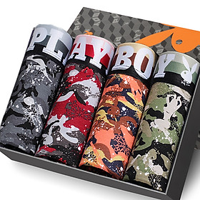 Set 4 Quần Boxer Nam Playboy Lưng Thấp 5260