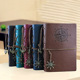 Vintage Faux Leather Loose-Leaf Notepad Travel Notebook Diary Notebook